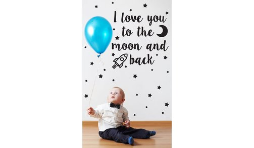 Wall Sticker - I love you to the moon - Kids