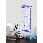 Wall Decal Ruler for kids 3 - With your NAME