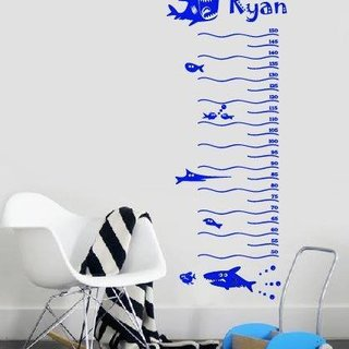 Wall sticker - Ruler for kids with your own name 3