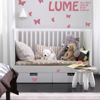 Wall Sticker - Butterfly with Name & Birth data