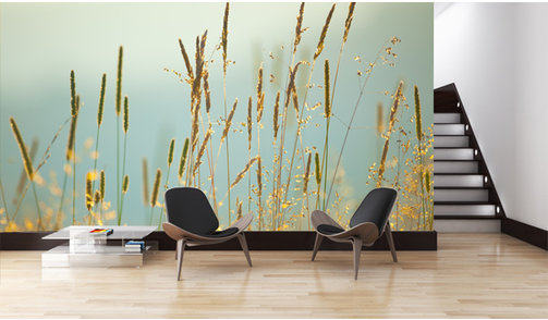 Self-adhesive photo wallpaper custom size - Meadow Flowers Vintage