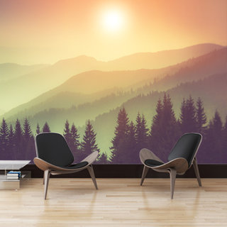 Zelfklevend fotobehang op maat - Natuur - Misty Mountains