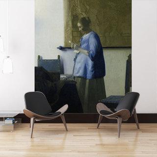 Selbstklebende Fototapete angepasst - Frau liest einen Brief - Johannes Vermeer