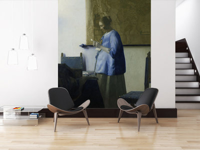 Mural Woman Reading a Letter