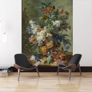 Selbstklebende Fototapete angepasst - Stillleben mit Blumen - Jan van Huysum