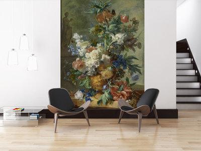 Fotobehang Stilleven met bloemen - Jan van Huysum