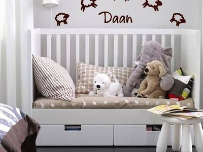 Wandtattoo-Aufkleber Geburt Baby-Schaf