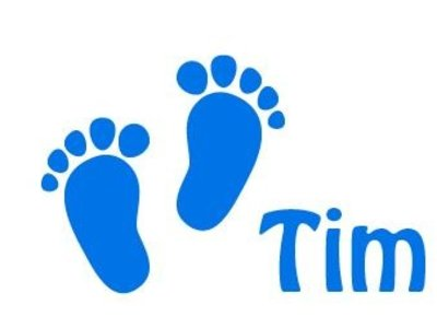 Window Decal Sticker Baby Feet Birth