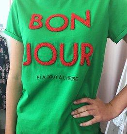 Soaked in luxury Bon Jour Tie Grass Green