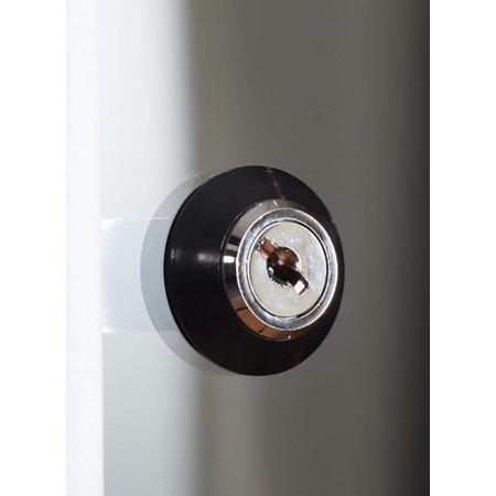 Vitrinekast LED 80 zwart 80x40x200 frontdoor