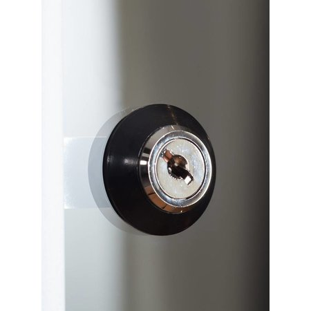 Vitrinekast LED 50 zwart 50x50x200 onderkast