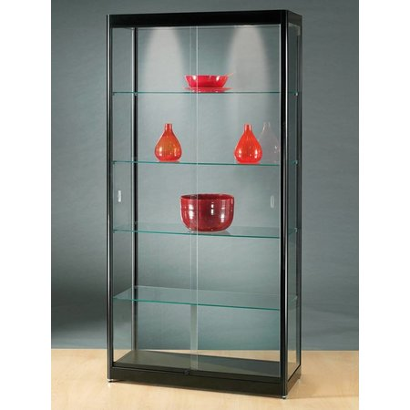 Vitrinekast LED 100 zwart 100x40x200 cm