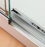 Vitrinekast LED 120 aluminium 120x40x200cm