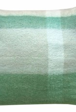 Pea green mohair cushion