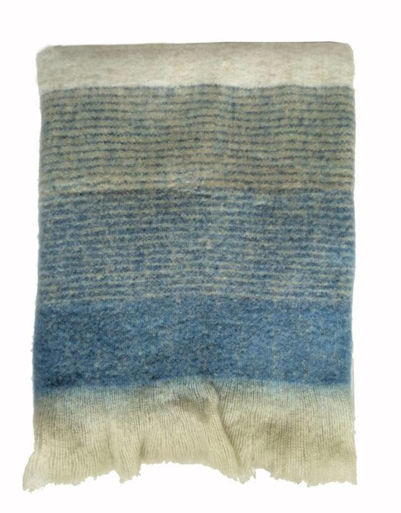 Indigo mohair throw