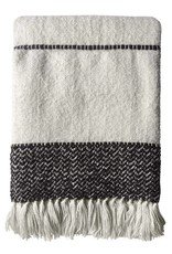 Berber offwhite throw