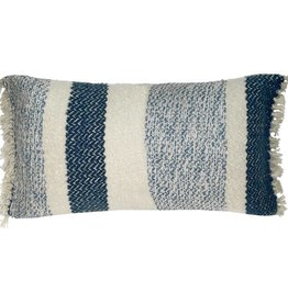 Berber grainy blue cushion