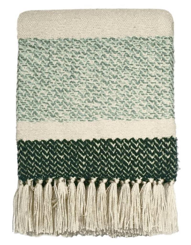 Berber grainy green throw
