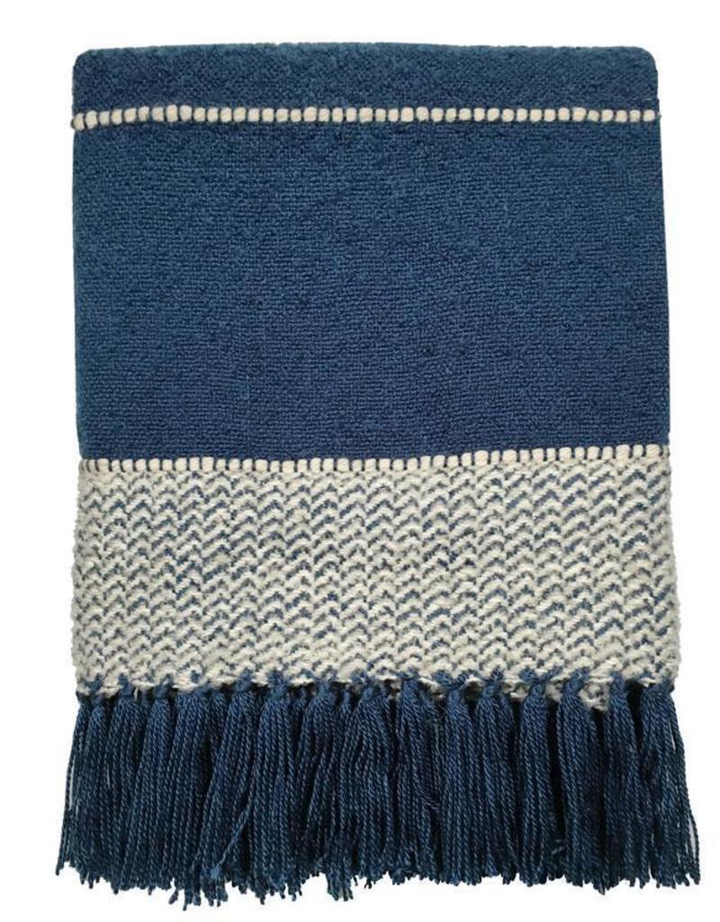 Berber dark blue throw
