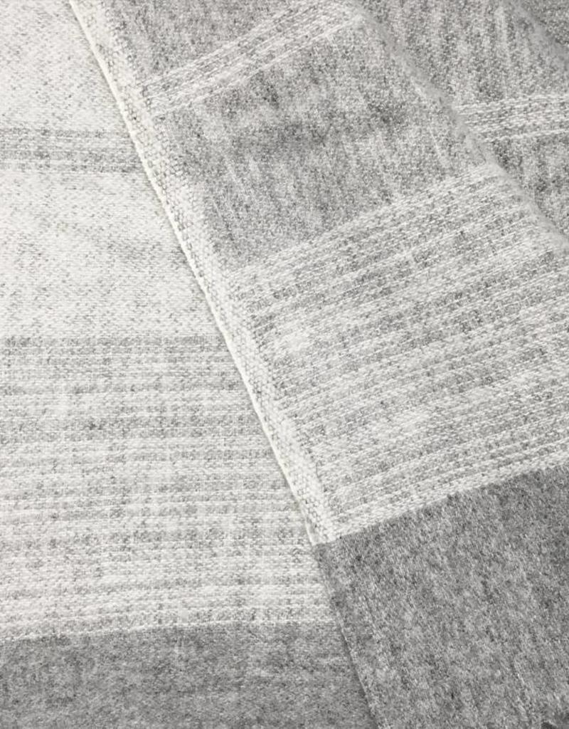 Morning grey wool throw