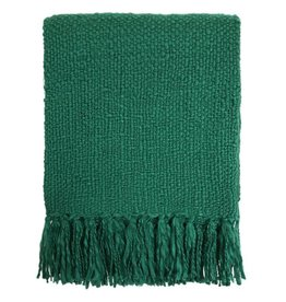 Ocean green throw