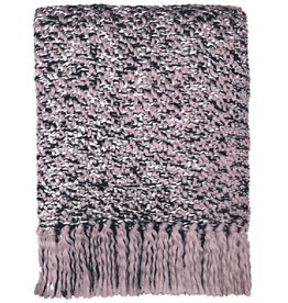 Mauve pink throw