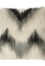 Cushion 100% wool zigzag 50x50