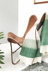 Leaf green mohair throw