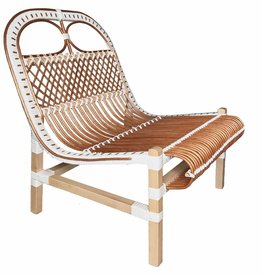 Rattan lounge chair white