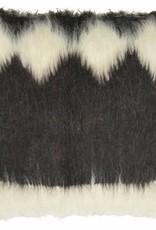 Floor cushion 100% wool diamond black 90x90
