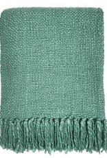Misty green throw