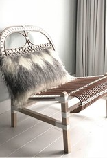 Diamond rectangle cushion grey 40x70