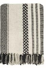 Cheyenne stripe offwhite throw (NEW)
