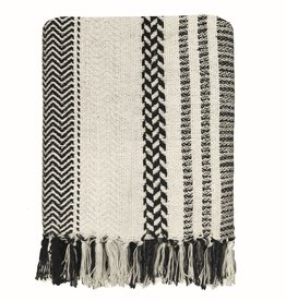 Cheyenne stripe offwhite throw (NEW)