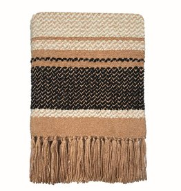 Navajo beige throw (NEW)