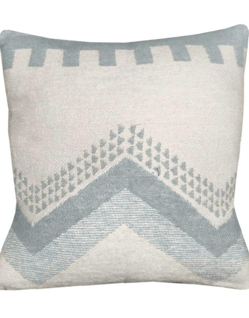 Zig zag fun misty blue cushion