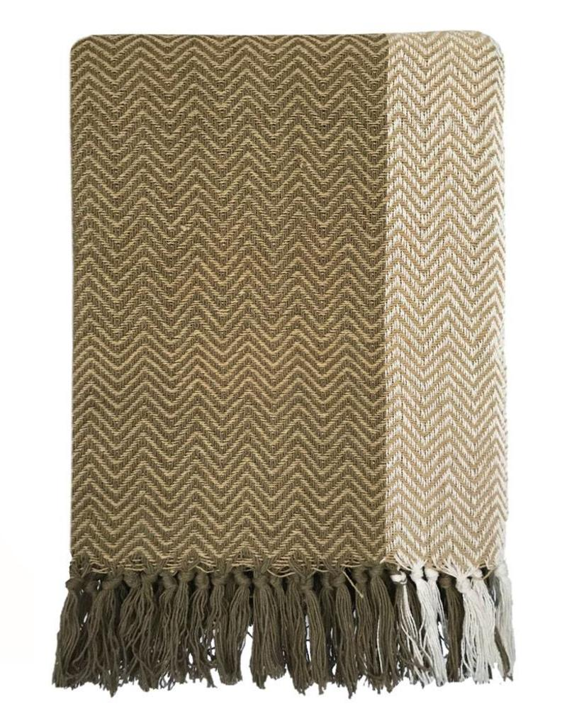 Teepee antik yellow throw