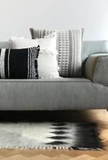 Native stripe cotton offwhite cushion 60x60cm