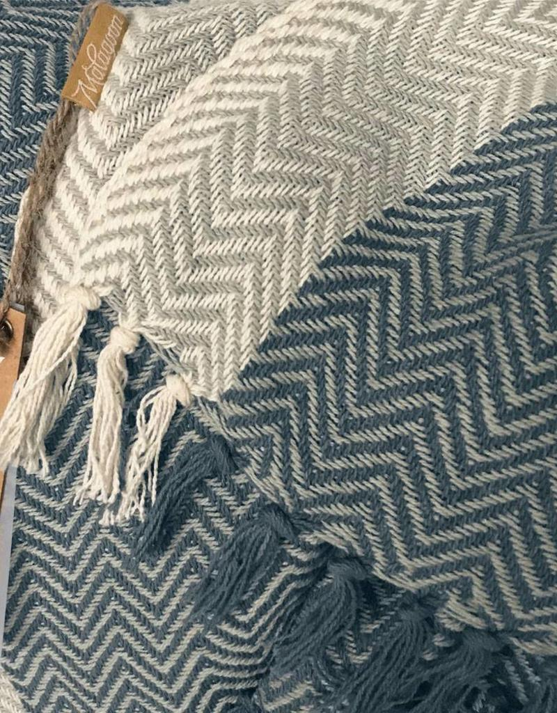 Teepee dark blue throw