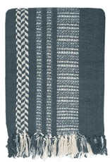 Cheyenne stripe dark blue throw