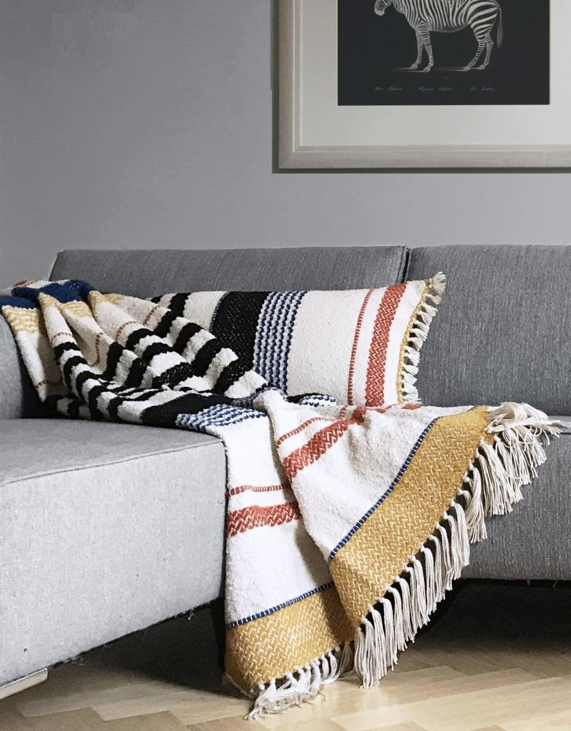 Multicolor boucle miracle throw