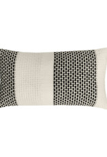 Rustic basket stripe cushion offwhite (NEW)