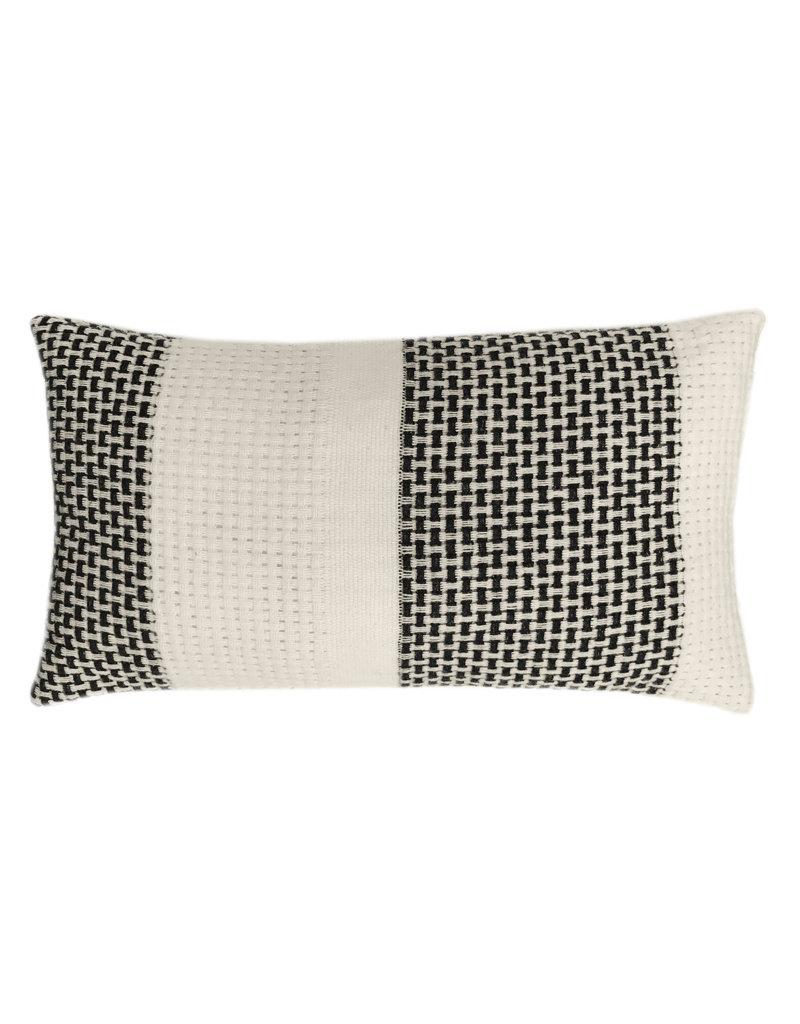 Rustic basket stripe cushion offwhite (NEW)