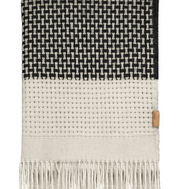 Rustic basket stripe throw offwhite