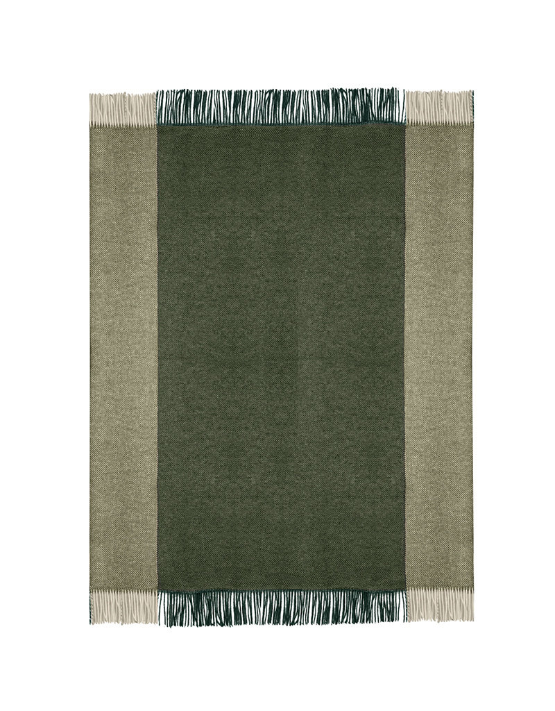 Easy nature wool throw green (NEW)