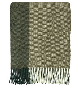Easy nature wool throw green