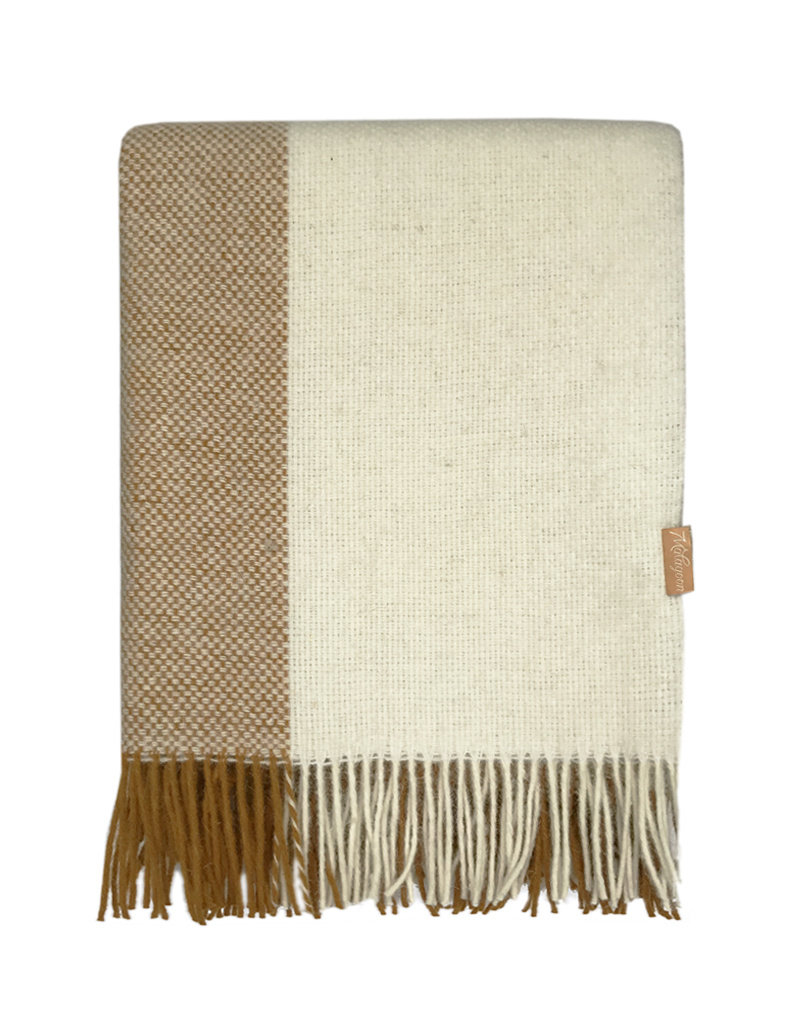 Easy nature wool throw mustard