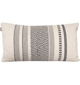 Native stripe cotton offwhite cushion 35x65cm (NEW)
