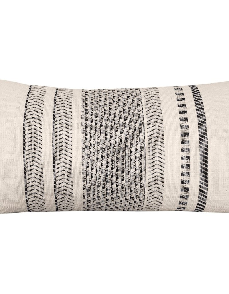 Native stripe cotton offwhite cushion 35x65cm