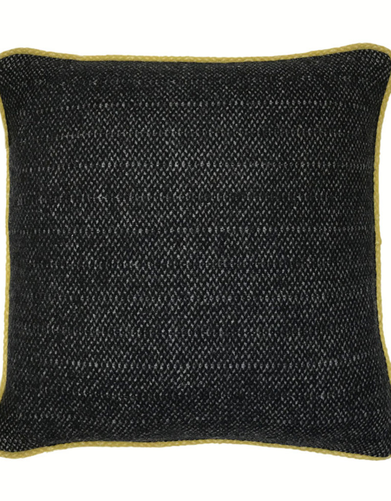 Crow black structure recycled wool square cushion (NEW) (15 Dec)